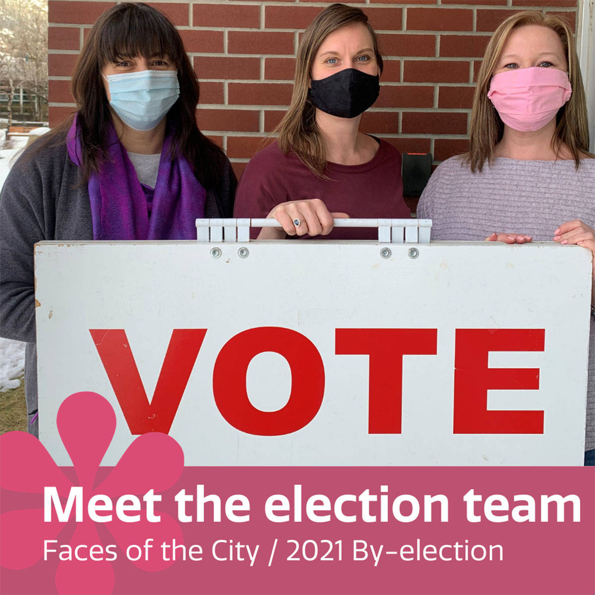 The City of Castlegar byelection team. L-R: Nicole Brown, Michelle Anderson and Tracey Butler. Photo: Submitted