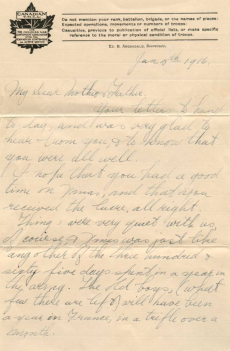 Letters from Arthur Killough are included in the Canadian Letters and Images Project.